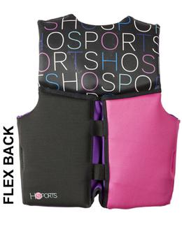HO Sports Pursuit Girls Youth Neoprene Life Vest Flex Back