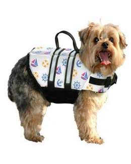Paws Aboard Nautical Design Nylon Dog Vest