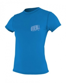 Oneill Tech Crew Short Sleeve Rash Guard Blue