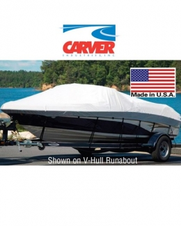 Carver Boat Cover V-Hull Runabout w/ Windshield and Bow Rails