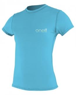 Oneill Tech Crew Short Sleeve Rash Guard Blue