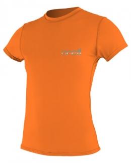 Oneill Tech Crew Short Sleeve Rash Guard Orange