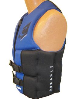 Oneill Assault LS Mens Neoprene Life Vest Blue Side