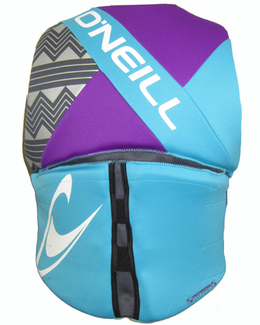oneill reactor womens life vest 2017 turquoise back
