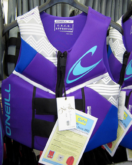 Oneill Reactor Womens Life Vest Front Purple in stock