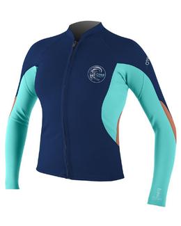 O'Neill Women's Bahia Full Front Zip Wetsuit Top 0.5mm