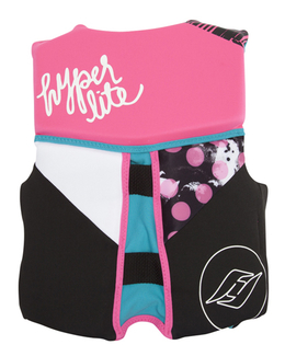 Hyperlite Indy Small Girls Youth Life Vest 2016 Back View