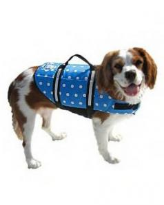 Paws Aboard Blue+White Polka Dot Nylon Dog Vest