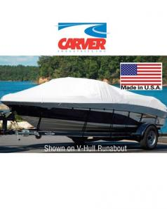 Carver Boat Cover V-Hull Runabout+Windshield and Bow Rails