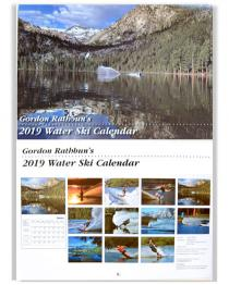 "Gordon Rathbuns 2019 Water Ski Calendar 10"" x 14"""