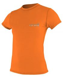 Oneill Tech Crew Short Sleeve Rash Guard Orange