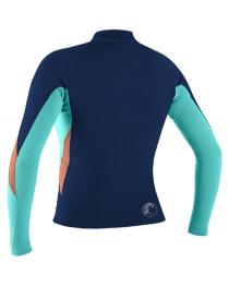 O'Neill Women's Bahia Full-Zip Jacket Wetsuit Top Navy Back