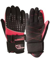 HO Women's World Cup Gloves Black and Pink