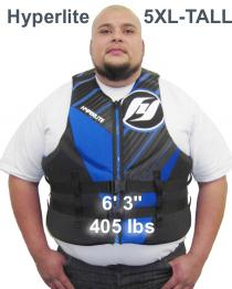 Hyperlite Tall Neoprene Life Vest 400 lb man