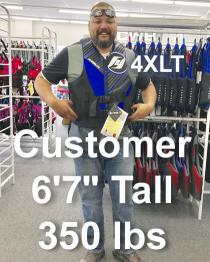 Hyperlite Tall Neoprene Life Vest 4XL-TALL