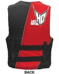 HO Infinite Oversized Life Vest fits Big Guys Red Back