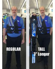 HO Sports Regular Life Jacket Compared to TALL Life Jacket