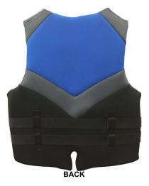 Winning Edge Oversized Neoprene Life Vest Back
