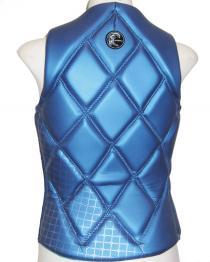 Oneill Gem Womens Comp Wake Vest Blue back
