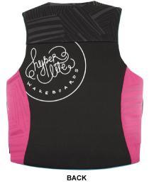 Hyperlite Indy Womens Neoprene Life Vest 2017 Pink Aqua Back