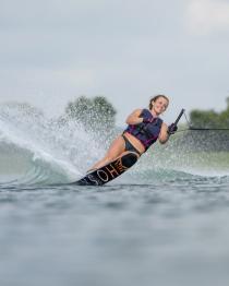 HO Womens Carbon OMNI Slalom Water Ski 2019 Action 1