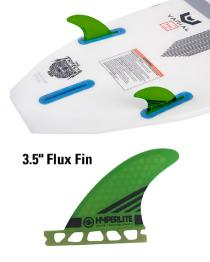 "3.5"" Flux Surf Fin Set w/ Key Set of two"