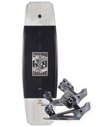 Hyperlite Wishbone Wakeboard 2019 with System Lowback Graphite Bindings