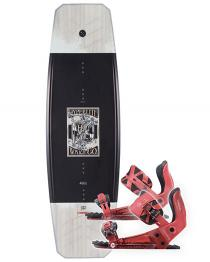 Hyperlite Wishbone Wakeboard 2019 with System Pro Red Bindings