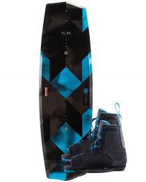Hyperlite State 2.0 Wakeboard 2019 and Black with Blue Remix Boots