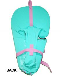 Connelly Baby Soft Infant Nylon Life Vest Girls Teal and Pink BACK