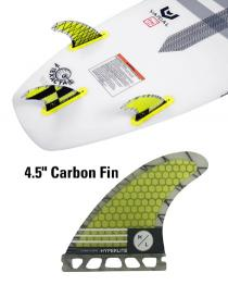 "4.5"" Carbon Surf Fin Set w/ Key Set of three"