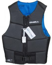ONeill Outlaw Mens Comp Wake Vest Black+Blue Inside 2019