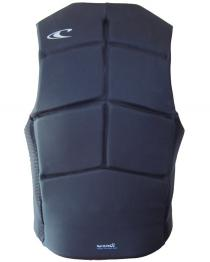 ONeill Outlaw Mens Comp Wake Vest Black+Blue 2019 back