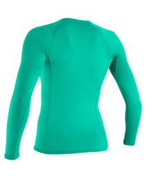 ONeill BASIC 50+ Long Sleeve Womens Green Rashguard 2019 Back
