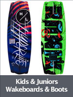 Wakeboards and Boots for Juniors and Kids